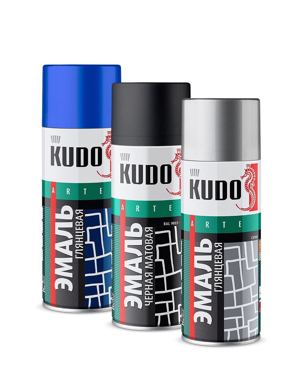 Алкидная аэрозольная универсальная краска KUDO