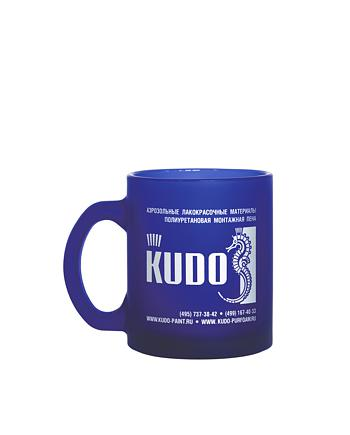 Кружка стеклянная матовая KUDO KU-r-311
