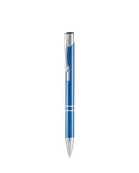 Ручка шариковая синяя металлическая KUDO
