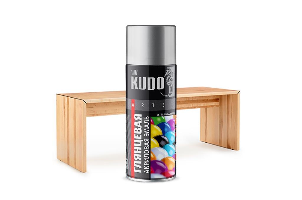 Как покрасить дерево из баллончика KUDO